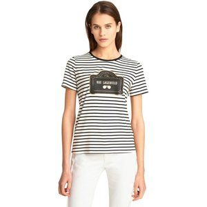 Karl Lagerfeld Core Striped Rue T-Shirt M New